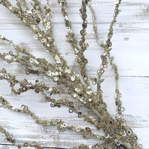 Champagne Glittered Branch Spray - 40""