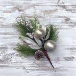 """Cream & Champagne Ornament Pick - 13"""""""