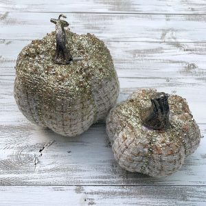 Textile Jeweled Pumpkin