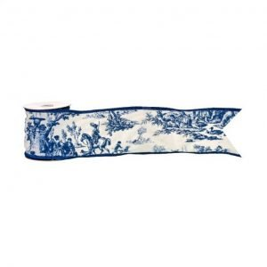 Blue Toile Designer Ribbon