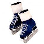Blue Velvet Ice Skates Ornament