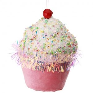Sprinkle Cupcake Ornament