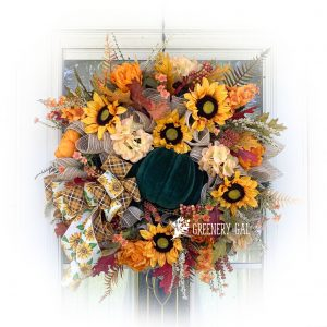 Sunflower & Pumpkin Fall Wreath