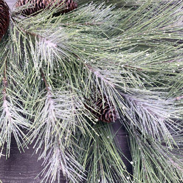 Glittery Mix Needle Pine Teardrop Swag