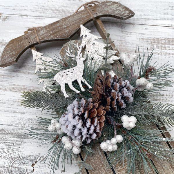 Weathered Winter Sled w/Deer