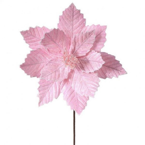 """Candy Pink Poinsettia Stem - 20"""""""