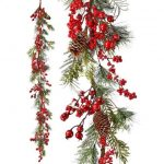 """Red Berry & Spruce Garland - 60"""""""
