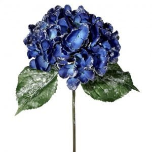 Glittered Royal Blue Hydrangea Stem - 22""