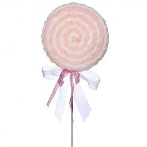 Lollipop Swirl - Pink/White - 28""