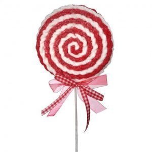 Lollipop Swirl - Red/White - 28""