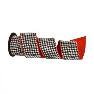 Blk/Wht Houndstooth Ribbon