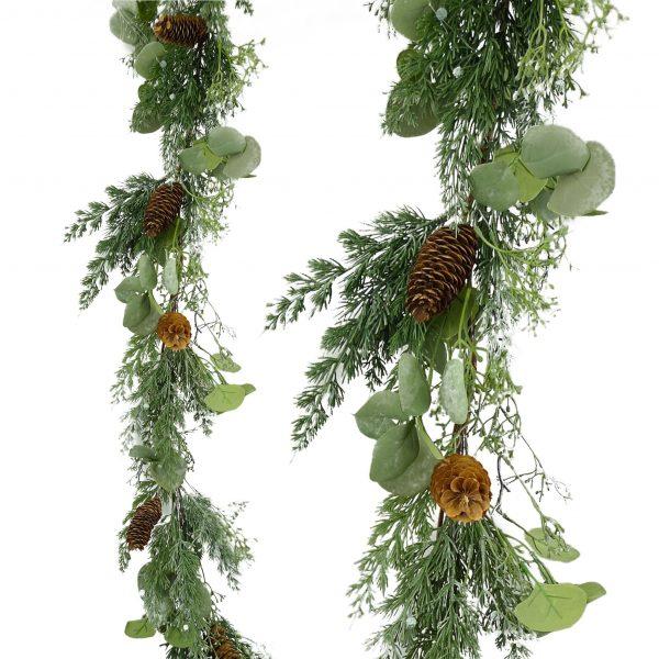 Seeded Eucalyptus Mix Pine Garland