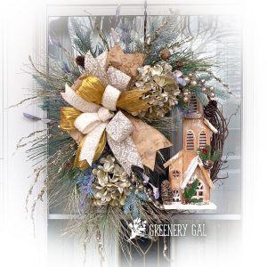Champagne & Pine Church Wreath